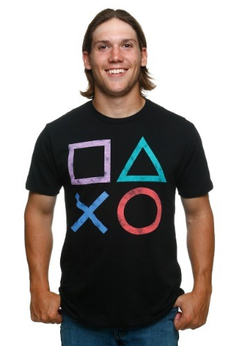 PlayStation Vintage Button Icons T-Shirt