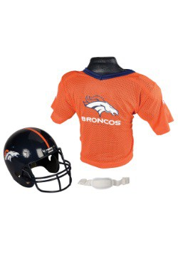 Child NFL Denver Broncos Helmet and Jersey Set
