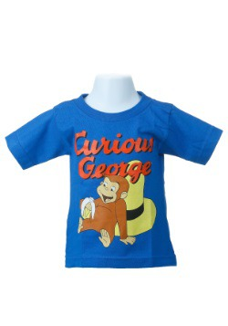 Toddler Curious George Royal Blue T-Shirt