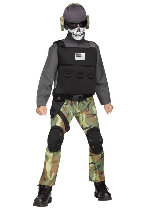 Child Skull Soldier Costume