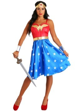 Deluxe Long Dress Wonder Woman Plus Size Costume