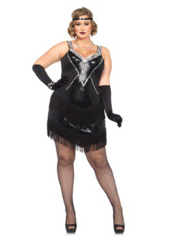 Glamour Flapper Costume For Plus Size