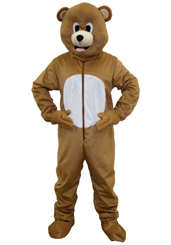 Brown Bear Mascot Costume For Adults