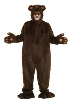 Deluxe Furry Brown Bear Men's Costume