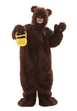 Child Deluxe Furry Brown Bear Costume