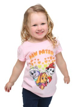 Paw Patrol Hearts Toddler Girls T-Shirt