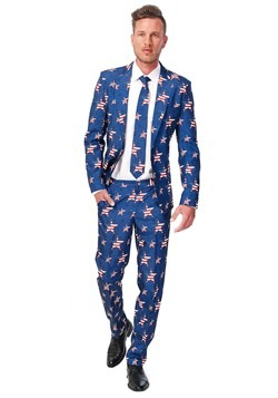 Men's SuitMeister Basic Stars and Stripes Suit