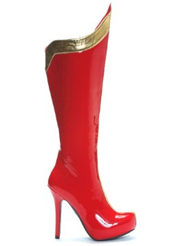 Red and Gold Sexy Superhero Costume Boots