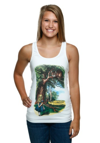 Alice in Wonderland Classic Juniors Tank Top