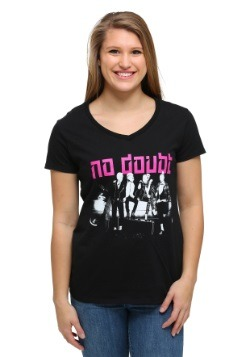 No Doubt Group Shot on Car Juniors T-Shirt