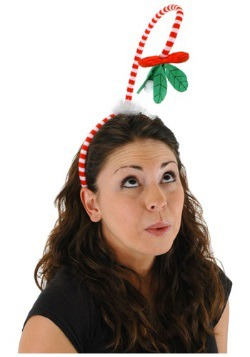 Springy Mistletoe Holiday Headband