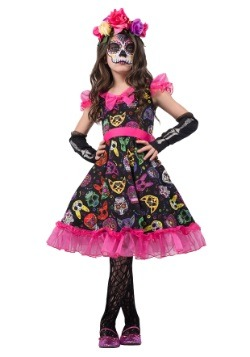 Sugar Skull Sweetie Girls Costume