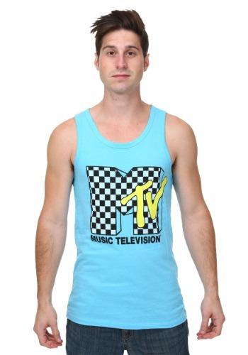 MTV Checkered Logo Mens Tank