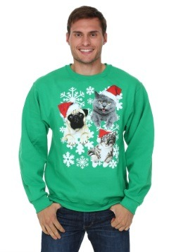 Santa Kitties & Pug Ugly Christmas Sweater