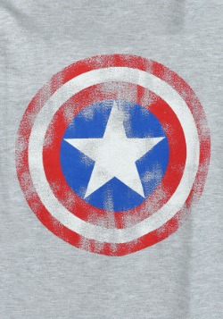 Captain America Caps Shield Worn Juniors French Tee2