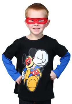 Super Mickey Toddler Caped Tee Long Sleeve Shirt