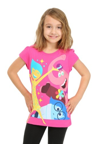 Inside Out Group Pink Girls T-Shirt