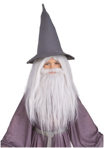 Kid's Gandalf Beard and Wig Set