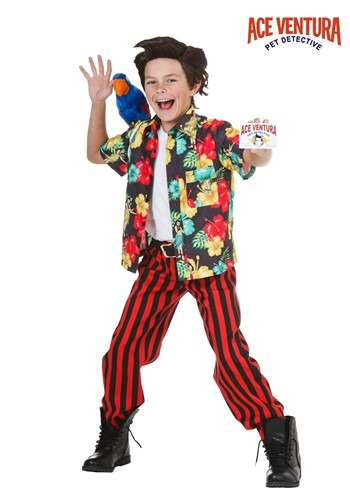 Kids Ace Ventura Costume with Wig
