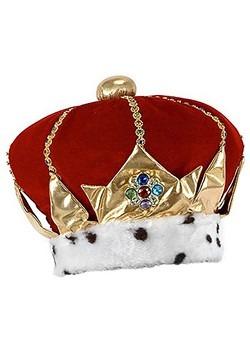 Royal Red King Plush Crown