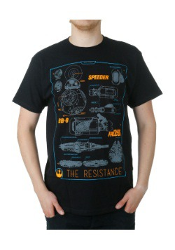 Star Wars 7 Vehicle Schematics T-Shirt