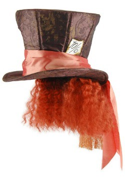 Wonderland Movie Mad Hatter Hat w/Hair