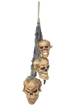 Hanging Rotten Skulls Decoration