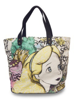 Disney Alice in Wonderland Canvas Tote