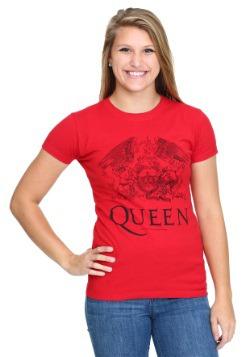 Queen Logo Red Juniors T-Shirt