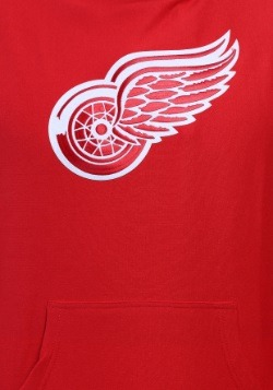 Detroit Red Wings Felt Tek Patch Mens Hoodie