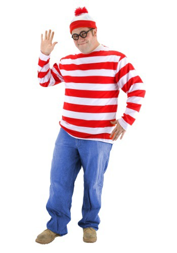 Where's Wally Plus Size Costume