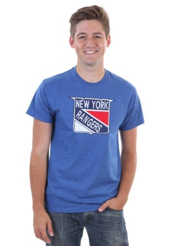 New York Rangers Vintage Tek Patch Mens Shirt