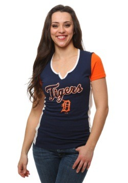 Detroit Tigers Time to Shine Womens T-Shirt