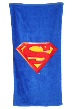 Superman Logo Beach Towel
