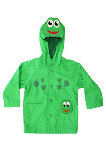 Green Frog Child Raincoat