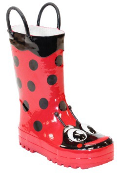 Red Ladybug Child Rainboots