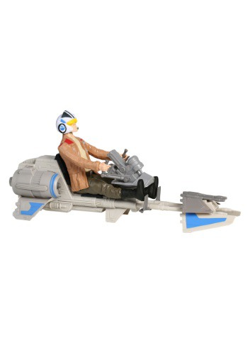 Star Wars Episode 7 Speeder Bike with Poe Dameron Figure