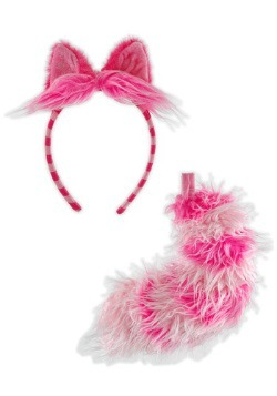 Pink Cheshire Cat Ears and Tail