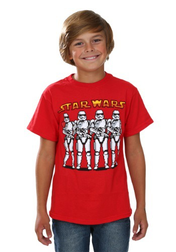 Star Wars Episode 7 Pixel Trooper Line Boys T-Shirt