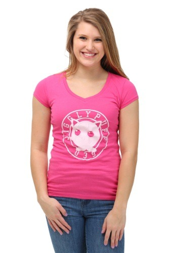 Pokemon Jiggly Puff Varsity Juniors V-Neck T-Shirt