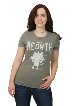 Pokemon Meowth Varsity Juniors T-Shirt