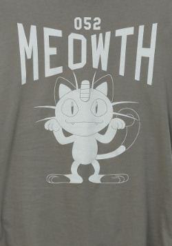 Pokemon Meowth Varsity Juniors T-Shirt2