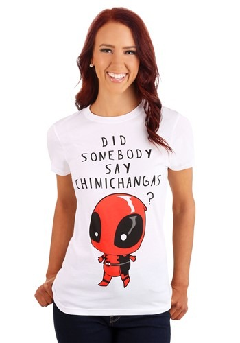 Deadpool Somebody Say Chimichangas Juniors T-Shirt