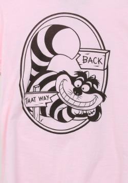 Alice In Wonderland That Way Cheshire Cat Juniors T-Shirt2