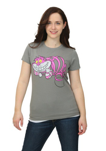 Alice In Wonderland Transparent Cheshire Juniors T-Shirt