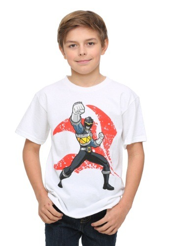 Power Rangers Black Ranger Punch Boys T-Shirt