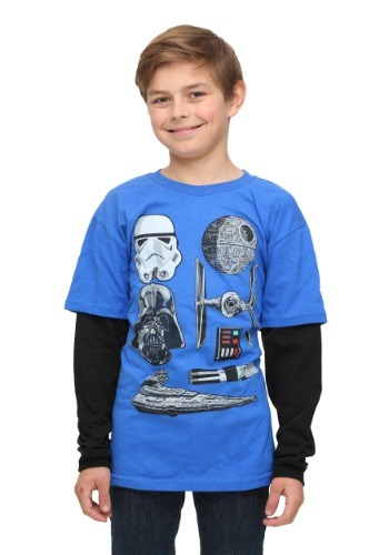 Star Wars Dark Side Things Boys Twofer Long Sleeve