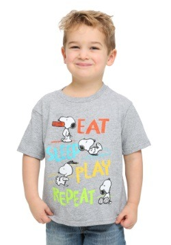 Peanuts Snoopy Eat Sleep Play Toddler Boys T-Shirt