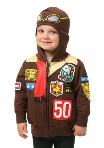 Peanuts Toddler Boys Snoopy Bomber Jacket Hooded Sweatshirt