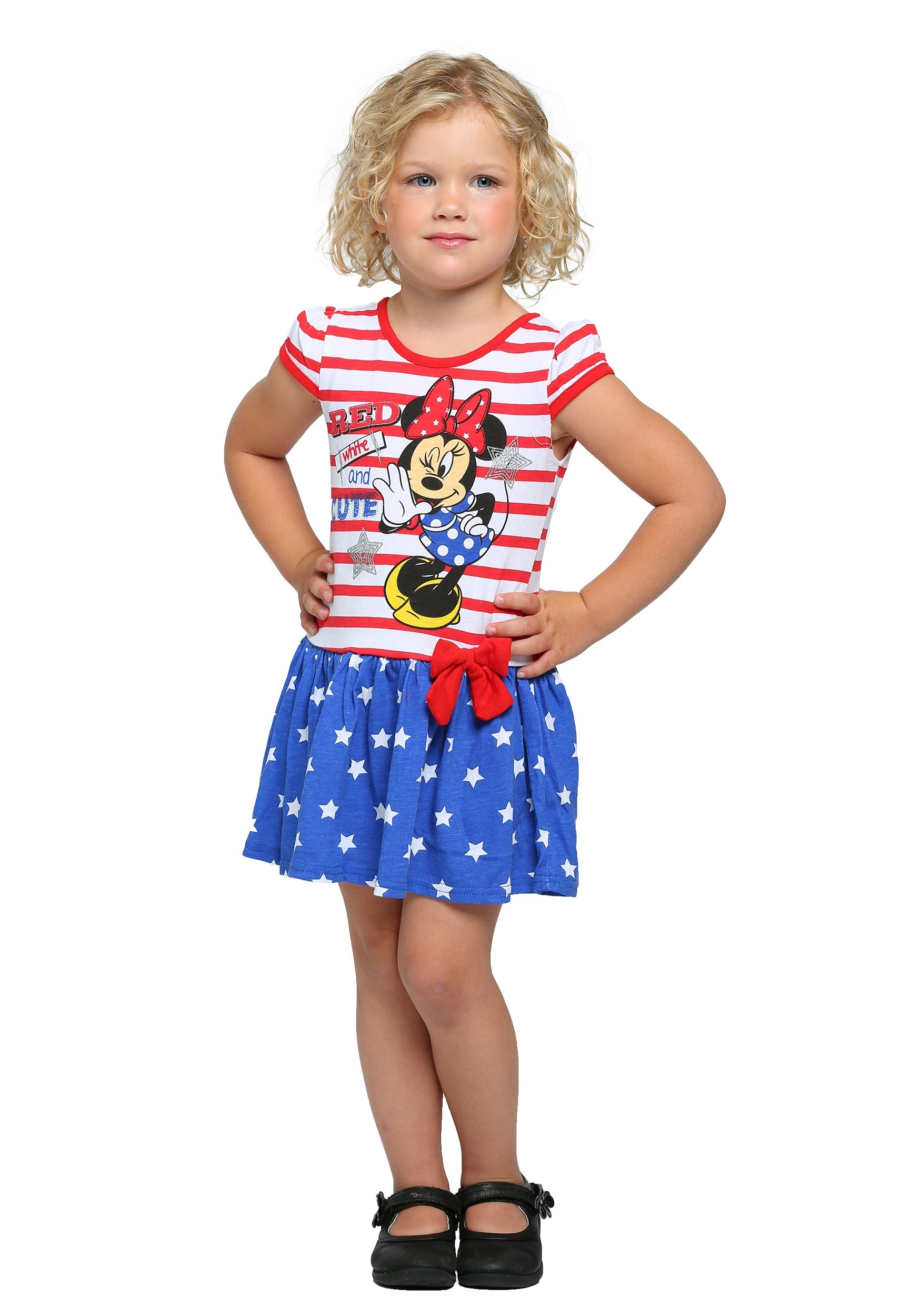 ed15740e7 Minnie Mouse Red White and Cute Girls Dress